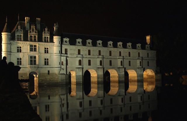 Photo du Château de Chenonceau de nuit