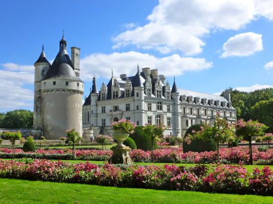 Photo des jardins du Château de Chenonceau