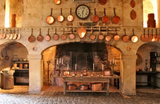 Photo des cuisines du Château de Brissac