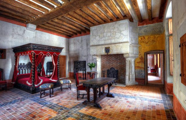 Chambre de Léonard de Vinci au Clos Lucé